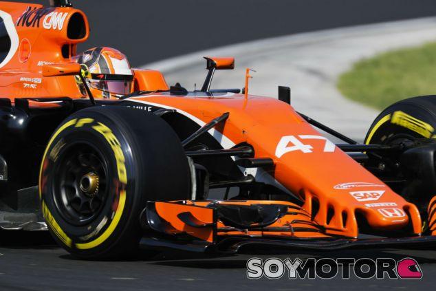 Norris, durante los test postGP de Hungría - SoyMotor.com