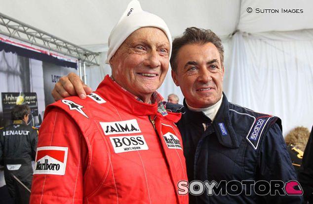 Niki Lauda y Jean Alesi - LaF1