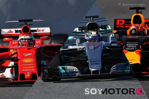 Kimi Räikkönen, Valtteri Bottas y Max Verstappen en Barcelona - SoyMotor