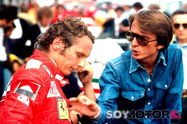 Niki Luda y Luca di Montezemolo en Nürburgring - SoyMotor.com