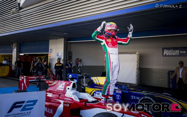 Charles Leclerc celebra el título de la F2 en Jerez - SoyMotor
