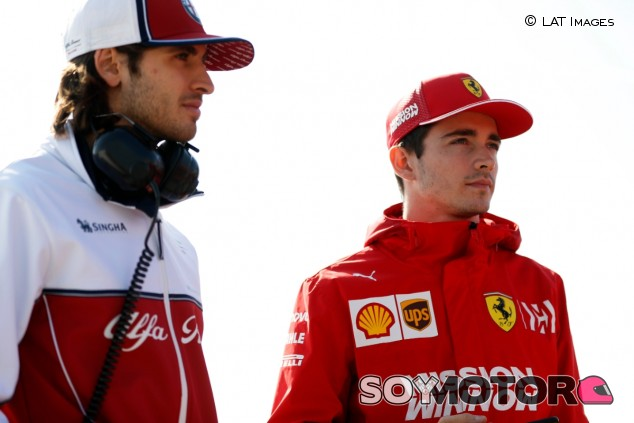 Antonio Giovinazzi y Charles Leclerc en 2019 - SoyMotor.com