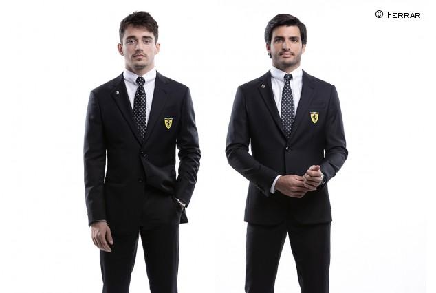 Carlos Sainz y Charles Leclerc, la nueva imagen de Armani  - SoyMotor.com