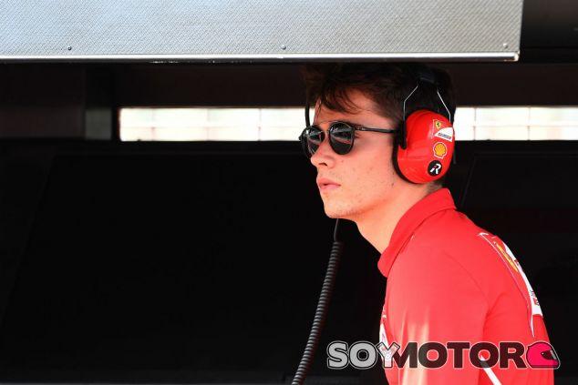 Leclerc, durante la semana de test en Hungría - SoyMotor.com