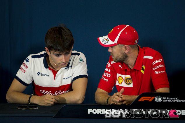 Charles Leclerc y Sebastian Vettel en Mónaco - SoyMotor
