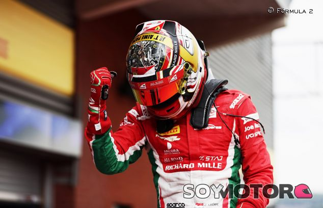Leclerc gana y es más lider en la Fórmula 2 - SoyMotor