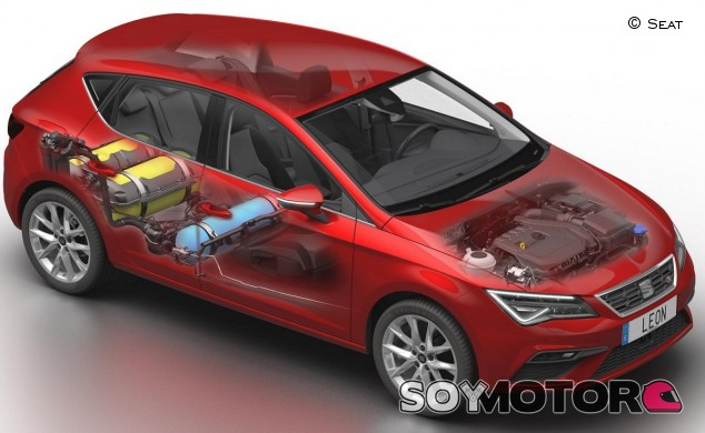 Esta versión 1.5 TGI EVO se beneficia de un tercer depósito de GNC y un nuevo motor - SoyMotor.com