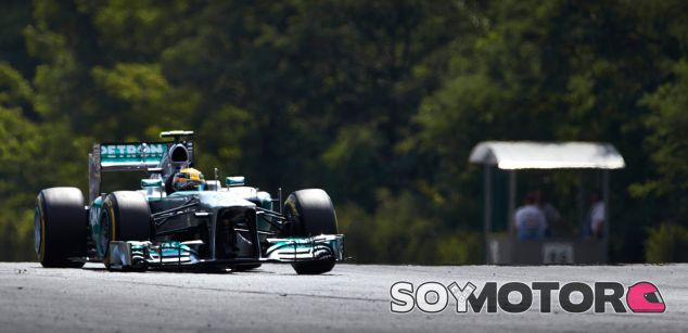 Lewis Hamilton en el Mercedes W04