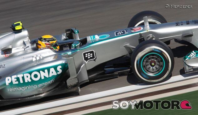 Lewis Hamilton en el Mercedes W04 - LaF1