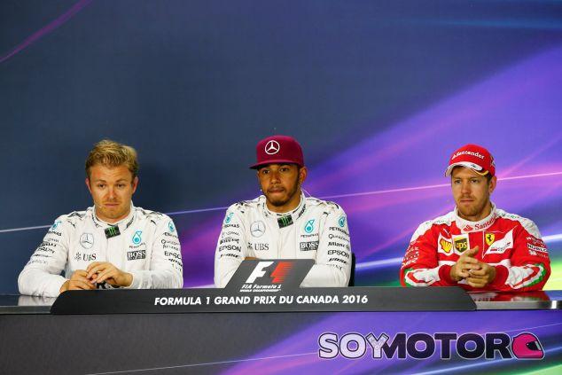 Los tres primeros clasificados de la clasificación del GP de Canadá - LaF1