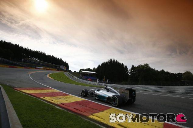 Lewis Hamilton, hoy en Spa-Francorchamps - LaF1
