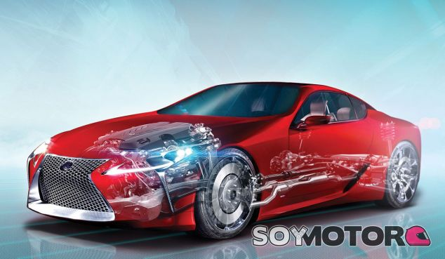 Esquema sencillo de la nueva arquitectura GA-L de Lexus - SoyMotor