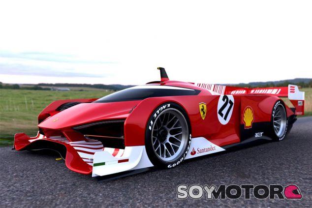 En 2010 circuló esta fotografía para ilustrar cómo sería un hipotético LMP1 de Ferrari - LaF1