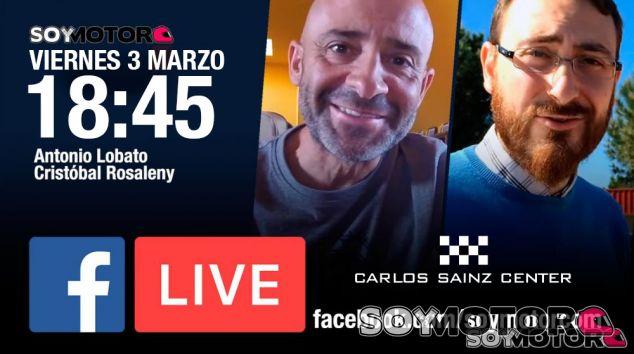 Facebook Live con Lobato y Rosaleny desde el karting Carlos Sainz Center, hoy 18:45h