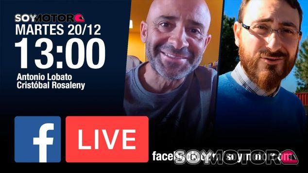 Facebook Live con Antonio Lobato y Cristóbal Rosaleny, hoy 13:00h