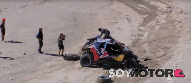 El coche de Sébastien Loeb tras el accidente - LaF1