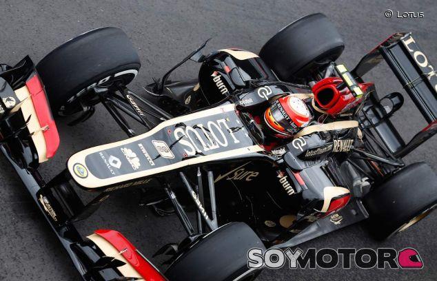 Romain Grosjean y su Lotus E21