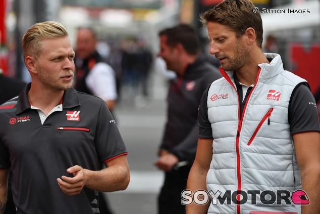 Kevin Magnussen y Romain Grosjean en Spa - SoyMotor.com