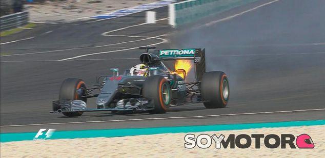 Hamilton rompe motor cuando acariciaba la victoria en Sepang - LaF1