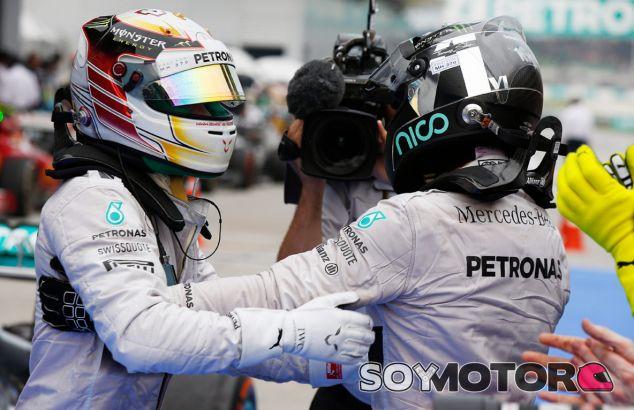 Mercedes en el GP de Malasia F1 2014: Domingo