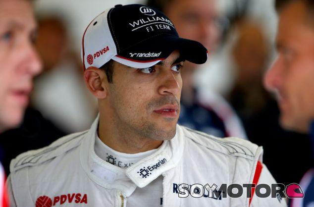 Pastor Maldonado en el circuito de Spa-Francorchamps