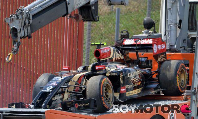 Los restos del E22 de Pastor Maldonado - LaF1