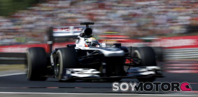 Pastor Maldonado en el GP de Hungría F1 2013