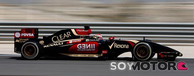 Maldonado marca el objetivo de Lotus: ver la badera de cuadros