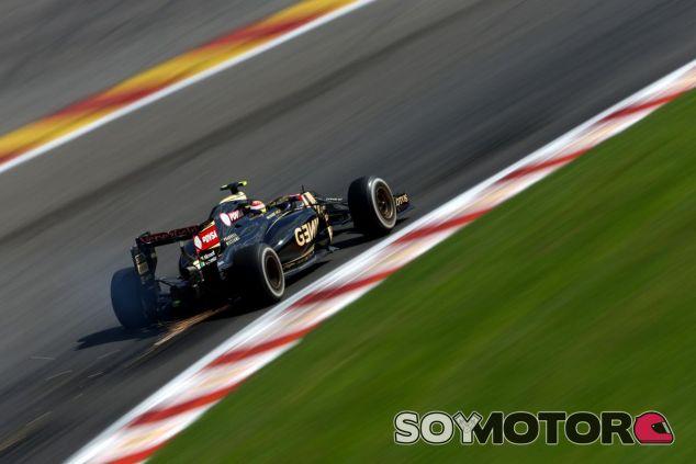 La carrera de Maldonado acabó cuando se salió en Eau Rouge y dañó su embrague - LaF1