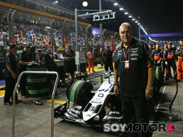 Vijay Mallya probablemente esté presenta en la parrilla - LaF1