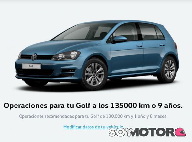 Calculadora de mantenimiento Volkswagen - SoyMotor.com