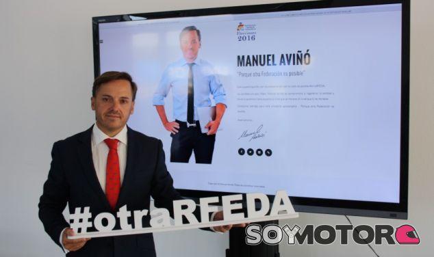 Manuel Aviñó en la presentación de su candidatura - SoyMotor