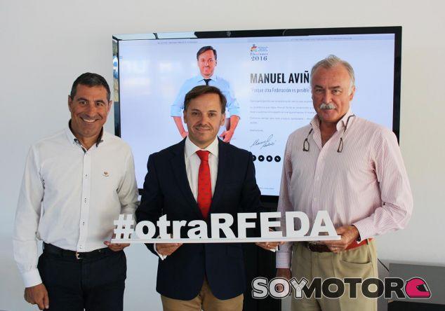 Manuel Aviñó junto a Miguel Fuster (izquierda) y Joaquín Verdegay (derecha) - LaF1