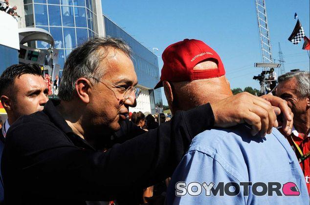 Sergio Marchionne y Niki Lauda en Hungaroring - SoyMotor.com