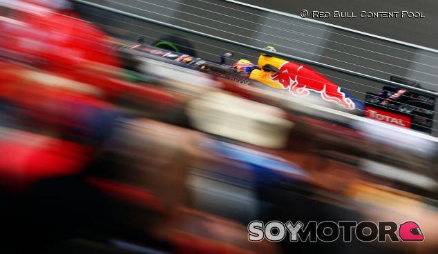 Mark Webber durante el GP de Canadá 2013