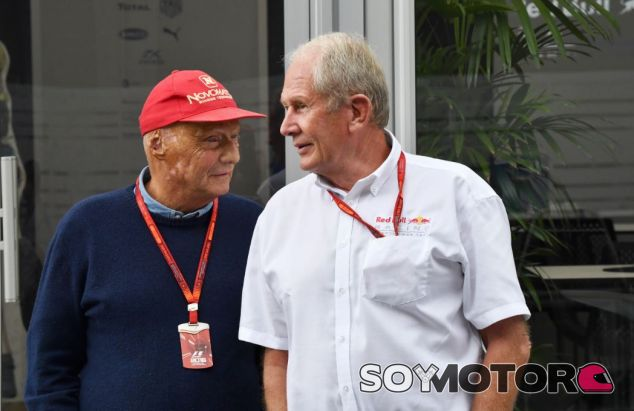 Marko junto a Lauda - SoyMotor