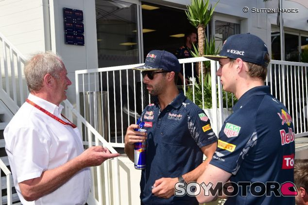 Helmut Marko, daniel Ricciardo y Max Verstappen –SoyMotor.com