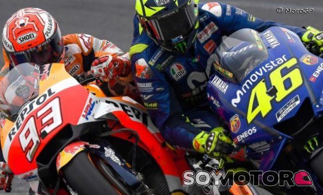 Marc Márquez y Valentino Rossi - SoyMotor.com