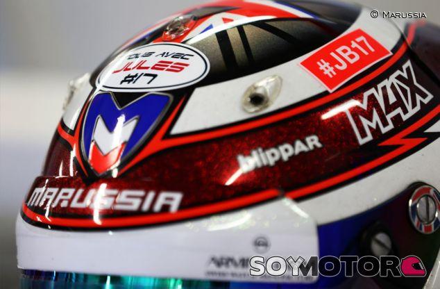Detalle del casco de Max Chilton - LaF1
