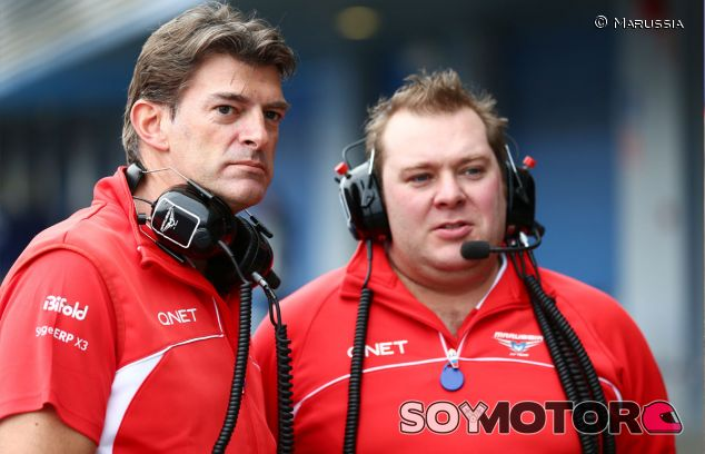 Graeme Lowdon y Dave Greenwood, director ejecutivo e ingeniero de carrera de Marussia respectivamente - LaF1
