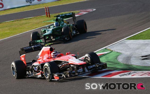 Max Chilton contiene a uno de los Caterham en Japón - LaF1