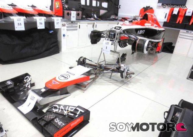 Monoplaza de Marussia en la subasta celebrada a finales de 2014 - LaF1