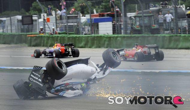 Felipe Massa en el momento del accidente - LaF1