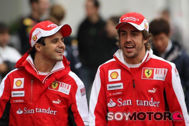 Massa siempre ha defendido que tuvo una buena relación con Alonso en Ferrari - SoyMotor