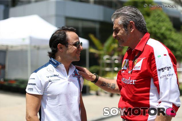 Felipe Massa y Maurizio Arrivabene en Sepang - SoyMotor.com