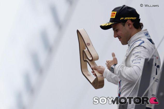 Felipe Massa en el podio del GP de Austria - LaF1