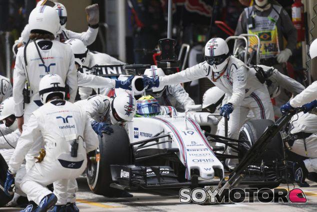 Imagen de archivo de una parada en boxes de Williams - LaF1