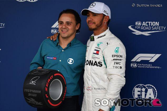 Felipe Massa y Lewis Hamilton en Interlagos - SoyMotor.com
