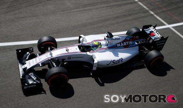 Felipe Massa con el Williams en Silverstone