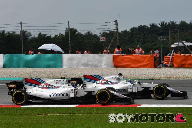 Stroll y Massa durante el GP de Malasia - SoyMotor.com